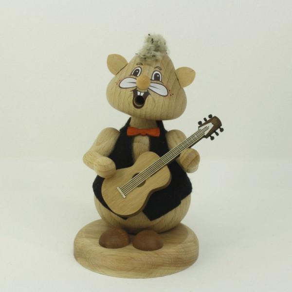 "Familie Körnlein - Rauchfigur ""Gitarrist"" ca 13 cm"