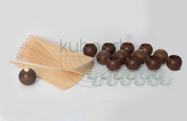 Kugelsatz Braun (12 Stück) für Massivholzpyramide 85 cm