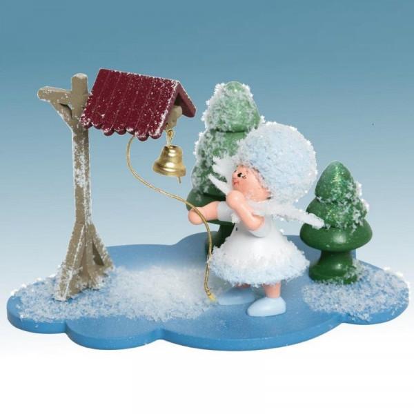 Schneeflöckchen mit Glocke, Artikel 43347 Sammelfigur, ca. 100 x 70 x 60 mm