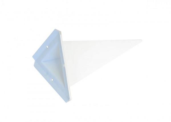 Einzelzacke A4 - Dreieck, weiß