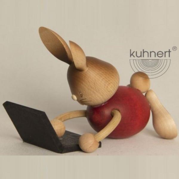Stupsi Hase mit Laptop, Artikel 52208 Höhe ca. 11 cm