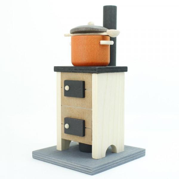 Saico Holz- Rauchofen- Räucherofen groß mit Kochtopf