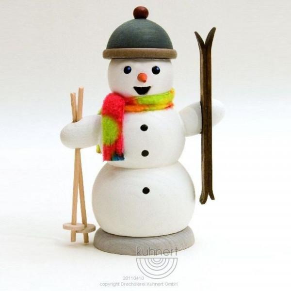 Räucherfigur Schneemann mit Skiern