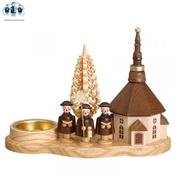 Teelichthalter Kurrendebrett Seiffener Kirche