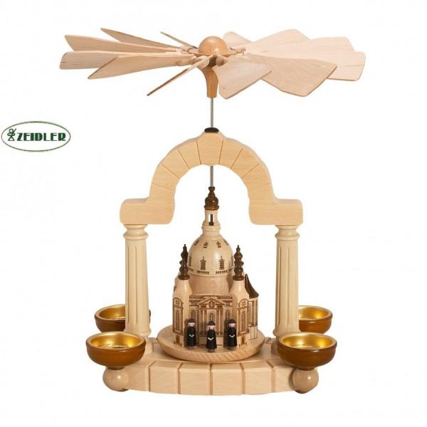 Pyramide Dresdner Frauenkirche und Kurrende für 4 Teelichter