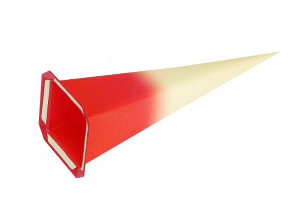 Einzelzacke I7 - Viereck, gelb/ roter Kern