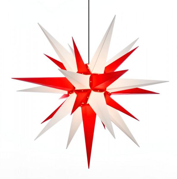 Herrnhuter Adventsstern Außenstern 130 cm Weiß-Rot