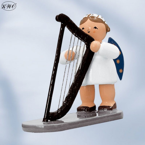 Engel mit Harfe, 5 cm Kunstgewerbe-Werkstätten Olbernhau GmbH