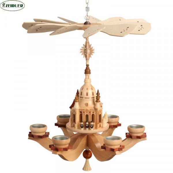 Hängepyramide Dresdener Frauenkirche, natur, für 6 Teel.