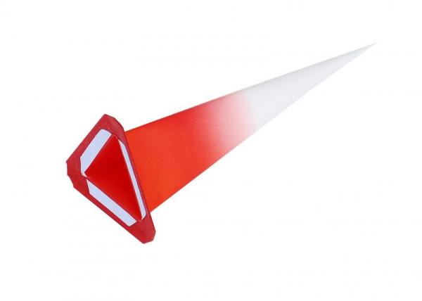 Einzelzacke I7,I8 - Dreieck weiß/ roter Kern Ersatzzacke für Herrnhuter Stern I7 und I8