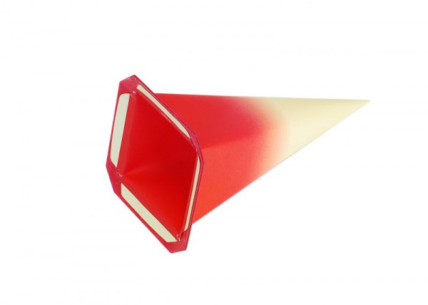 Einzelzacke I4 - Viereck Gelb/ roter Kern