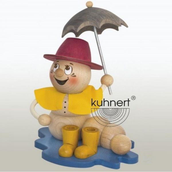 Erzgebirgische Räucherfigur Regenwurm Rudi, Artikel 37016