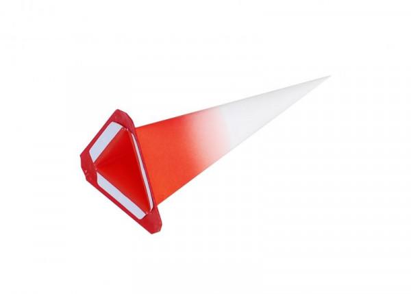 Einzelzacke I6 - Dreieck weiß/ roter Kern
