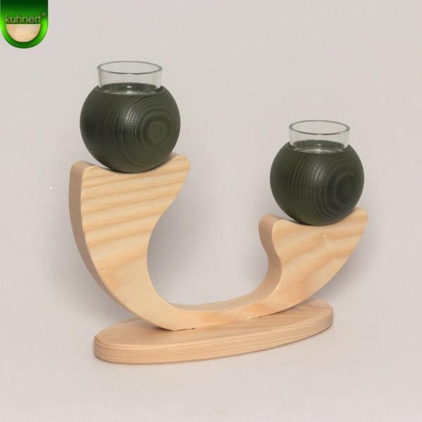 Tischleuchter 2-armig Grün