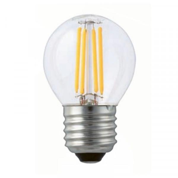 """LED-Tropfenlampe E27, 4 Watt (entspr.40 W Glühl.), klar 300 ° Abstrahl-Winkel durch """"Glühfaden-Technik"""""""