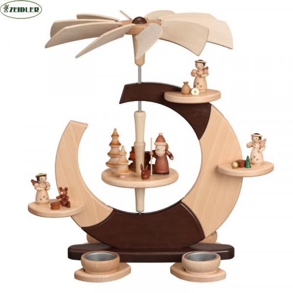 """Designpyramide """"offener Kreis"""" klein Weihnachtsmann & Engel"""