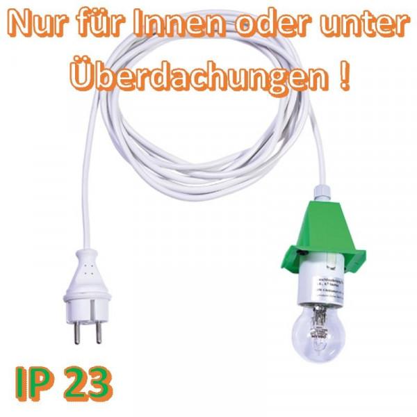 Weißes Anschlußkabel für Herrnhuter Außenstern A4/ A7 Grün