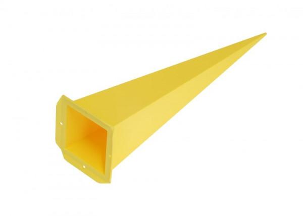 Einzelzacke A7 - Viereck, gelb