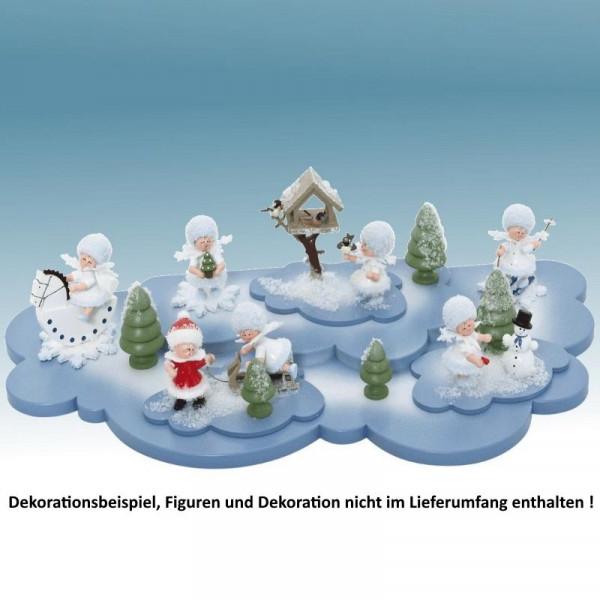 Doppelwolke für Schneeflöckchen, Artikel 43501 ca. 350 x 180 mm (ohne Schneeflöckchen u. Deko)