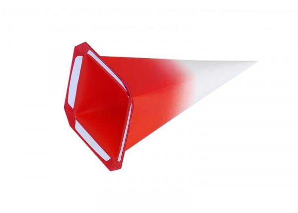 Einzelzacke I4 - Viereck weiß/ roter Kern