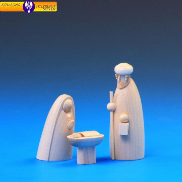 Krippenfiguren Heilige Familie natur, 3-teilig