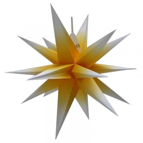 Annaberger Faltstern Nr. 7 (70 cm) gelb-weiß