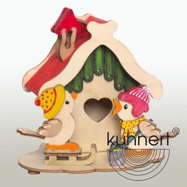 Bastelset Rauchhaus mit 2 Vögeln