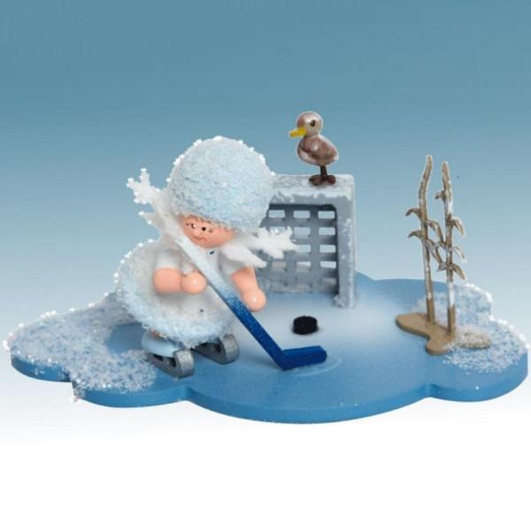Schneeflöckchen spielt Eishockey, Artikel 43344 Sammelfigur, Maße ca. 100 x 70 x 60 mm