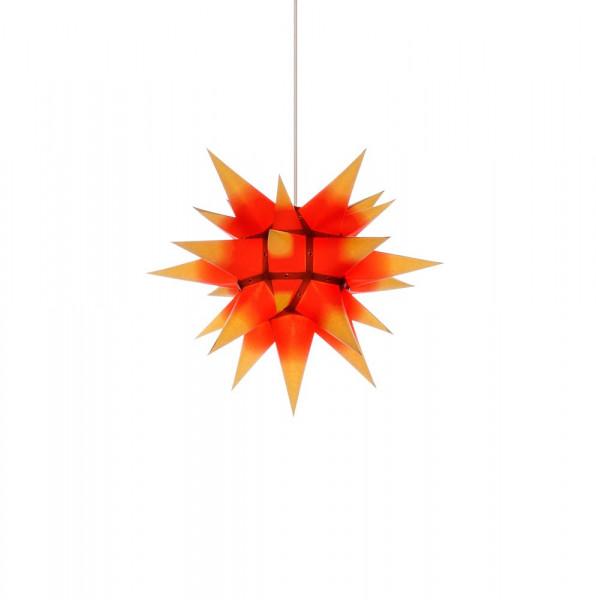 Herrnhuter Adventsstern I4, 40 cm Gelb mit rotem Kern