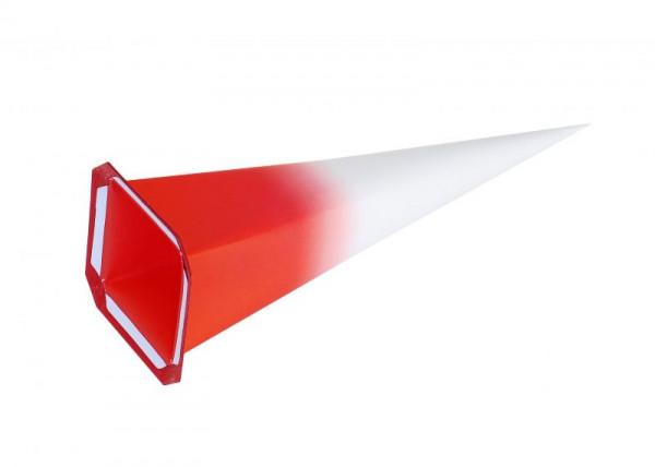 Einzelzacke I7 - Viereck, weiß/ roter Kern