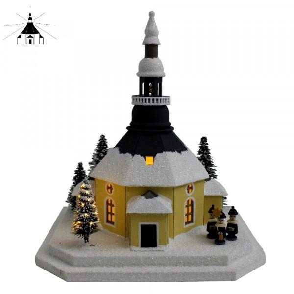 Erzgebirgisches Lichterhaus Seiffener Kirche m.Kurrende klei