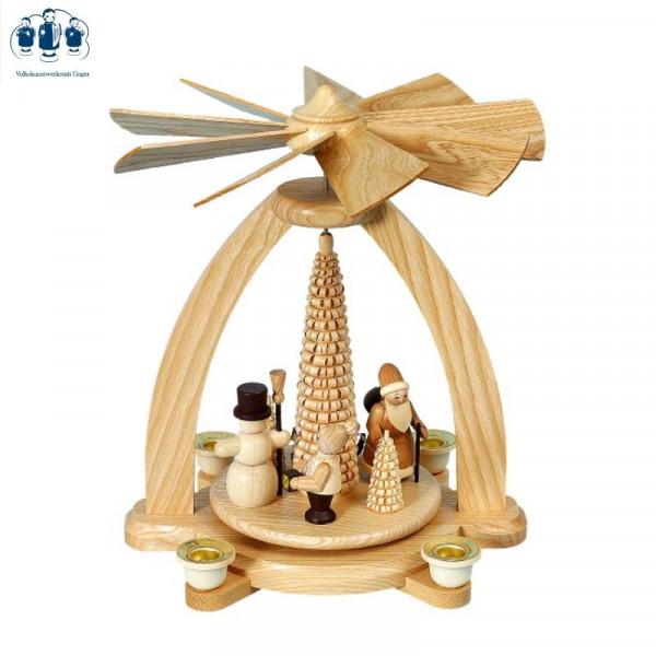 Tischpyramide Weihnacht mit Ringelbaum