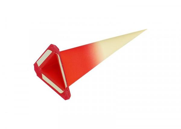 Einzelzacke I6 - Dreieck gelb/ roter Kern