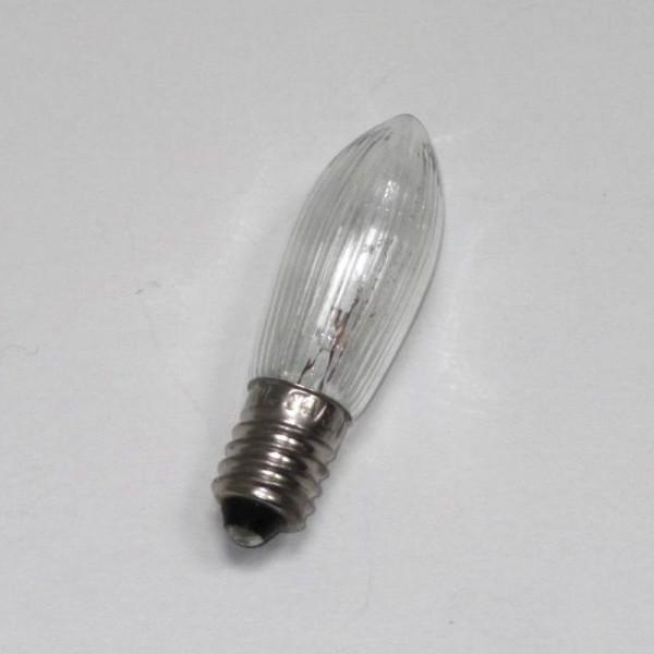 Spitzkerze/ Riffelkerze/ Topkerze E 10, 55 Volt, 3 Watt