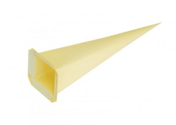 Einzelzacke I6 - Viereck, gelb