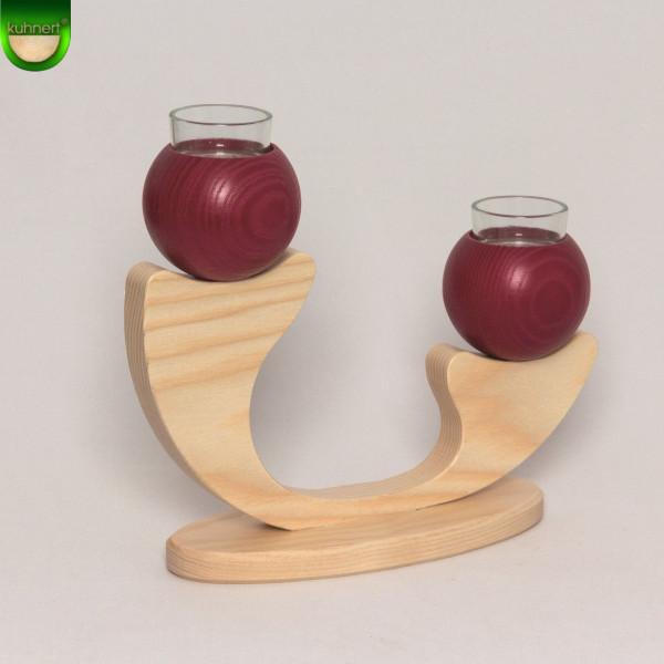 Tischleuchter 2-armig Rot