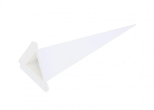 Einzelzacke A7 - Dreieck, weiß