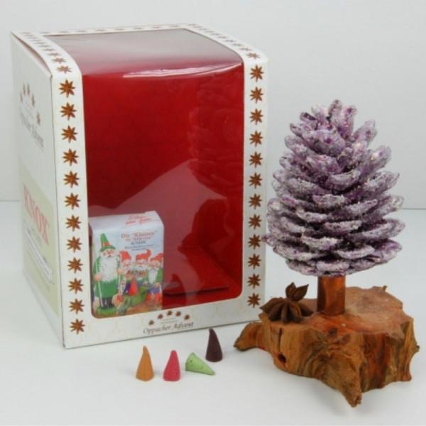 Oppacher Advent Räucherbaum brombeer gewachst in Geschenkverpackung !