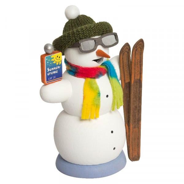 Räucherfigur Schneemann Apré Ski