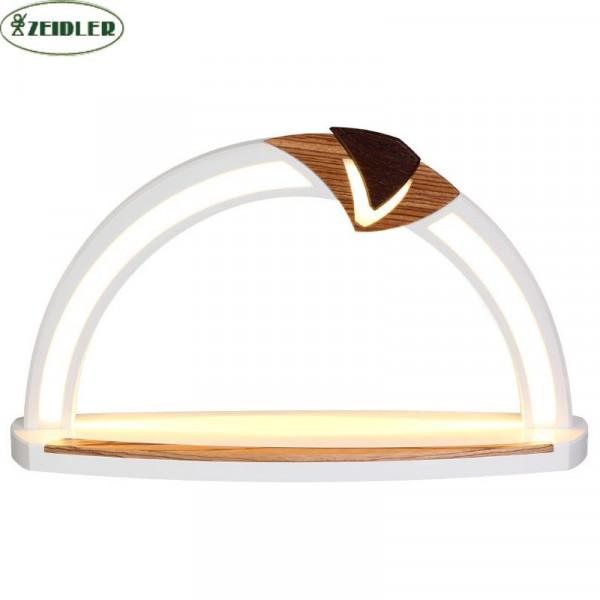 LED Design Bogen weiß, Applikation Zebrano/Wenge