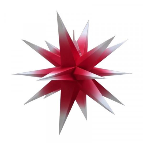 Annaberger Faltstern Nr. 5 (58 cm) rot-weiß