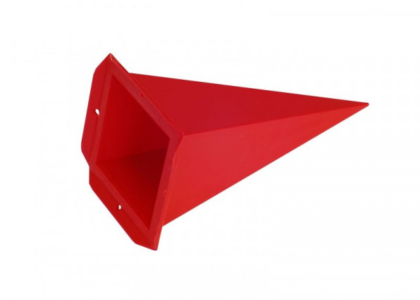 Einzelzacke A4 - Viereck, rot