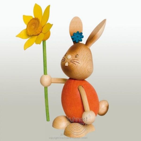 Stupsi Hase mit Blume, Artikel 52201 Höhe ca. 11 cm