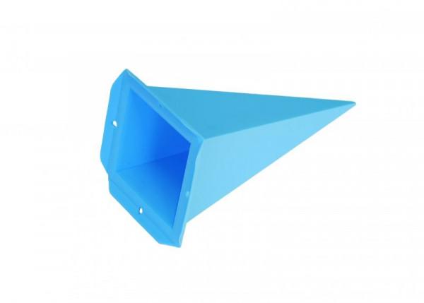 Einzelzacke A4 - Viereck, blau