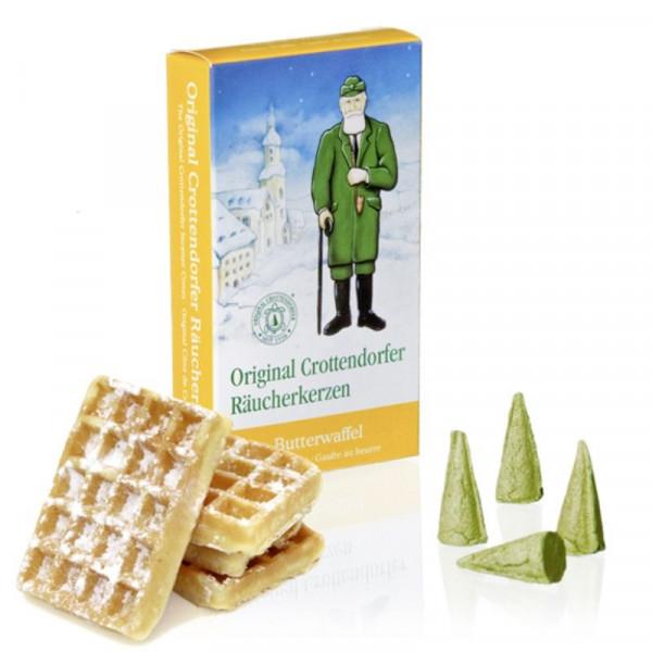 Original Crottendorfer Räucherkerzen - Butterwaffel