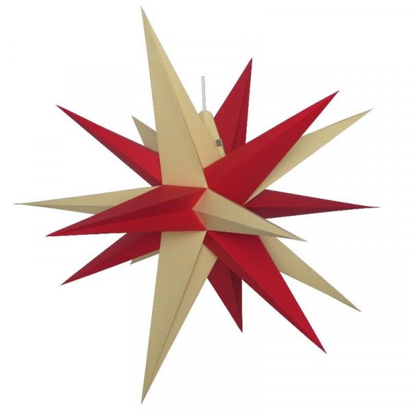 Annaberger Faltstern Nr. 7 (70 cm) rote+ gelbe Spitzen