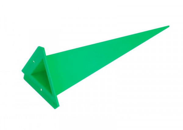Einzelzacke A7 - Dreieck, grün