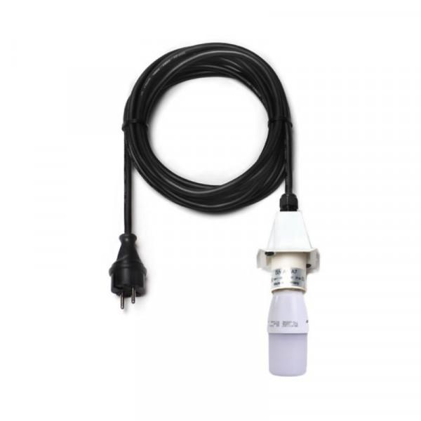 Anschlußkabel für Herrnhuter Außenstern A4/ A7 Weiß mit LED kompl. mit Abdeckkappe, LED-Leuchtmittel und 5 Meter Kabel