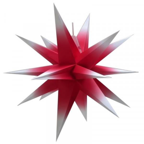 Annaberger Faltstern Nr. 7 (70 cm) rot-weiß