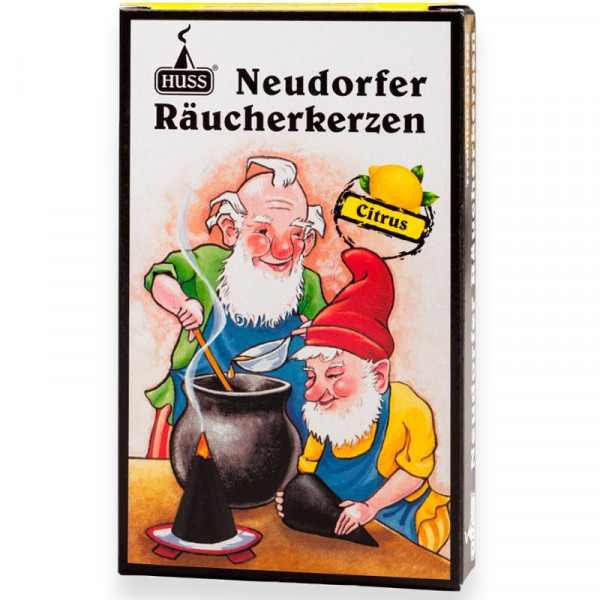 "Neudorfer Räucherkerzen ""Zwerge"" Citrusduft Original Erzgebirgische Räucherkerzen der Firma Huss"